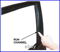 Weatherstrip Glass Run Channel Seal Set for 91-94 Nissan Sentra B13 4 Doors