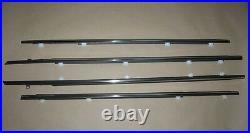 Weatherstrip Window Chrome Trim Glass Door Belt Rubber for 92-95 Honda Civic