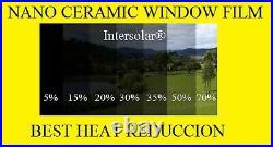 Window Film 15% Nano Ceramic Tint Residential Auto 24x50' 2ply Intersolar
