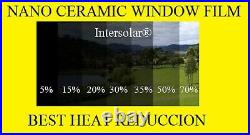 Window Film 70% Nano Ceramic Tint Residential Auto 60x50'2ply Intersolar
