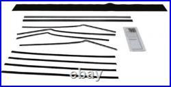 Window Sweeps Felt Kit for 1955-1957 Chevrolet Bel Air 2 Door Hardtop USA Made