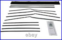 Window Sweeps Felt Kit for 1955-1957 Chevrolet Bel Air 4 Door Hardtop USA Made