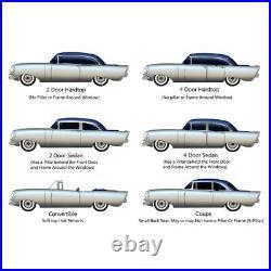 Window Sweeps Felt Kit for 1955-1957 Chevrolet Bel Air 4 Door Sedan USA Made