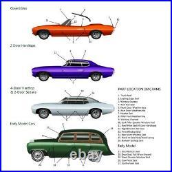 Window Sweeps Felt Kit for 1971-1973 Buick Riviera Boattail Hardtop OEM
