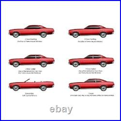 Window Sweeps Felt Kit for 1971-1976 Chevy Caprice 2 Door Convertible OEM