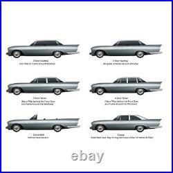 Window Sweeps Felt Kit for Chevrolet Impala 1963-1964 2Dr Hardtop Authentic 4 pc