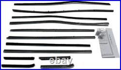 Window Sweeps Felt Kit for Ford Galaxie 1959 4DR Hardtop OEM 12Pc Inner Outer