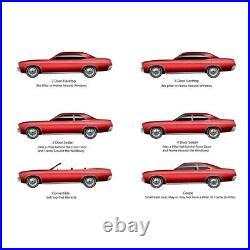 Window Sweeps Felt Kit for Plymouth Barracuda 1964-1966 Hardtop Authentic 8pcs